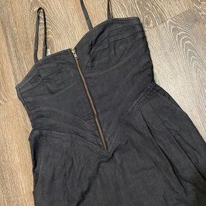 Corseted Denim Dress